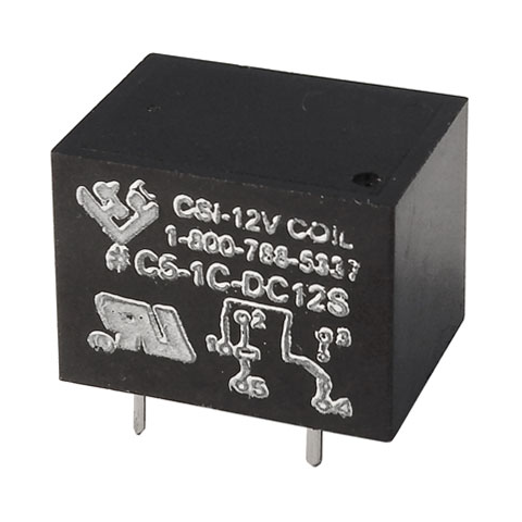 12VDC SPDT 10A RELAY, PC MT