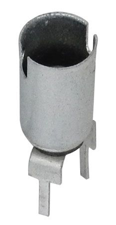 BAYONET BASE LAMP SOCKET, PC/ SOLDER LEADS