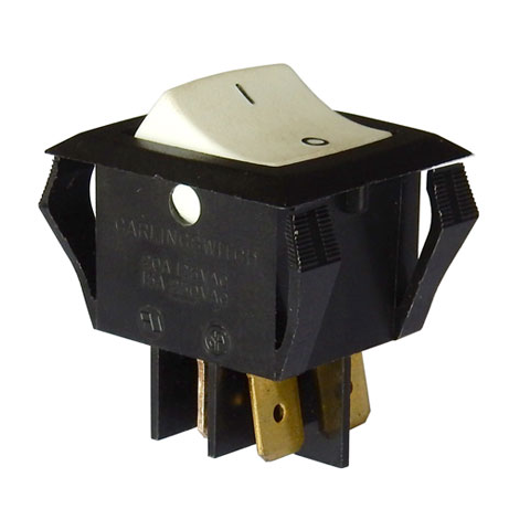 DPST ROCKER SWITCH, 20A