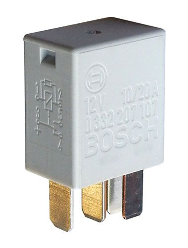 12 VDC 10/20A BOSCH AUTOMOTIVE SPDT RELAY