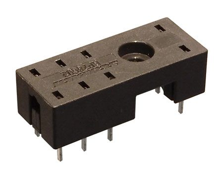8 PIN RELAY SOCKET, PCB MOUNT