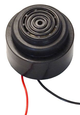 12VDC PIEZO BEEPER, THREADED BUSHING MOUNT