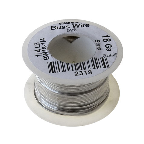 18 GAUGE BUSS WIRE, 1/4 LB ROLL