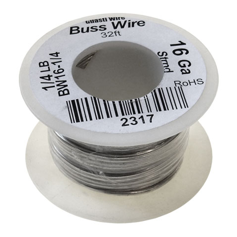 16 GAUGE BUSS WIRE, 1/4 LB ROLL