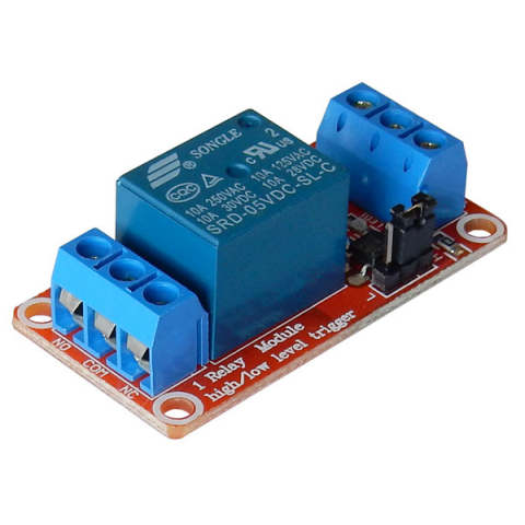 5VDC RELAY MODULE W/ OPTOISOLATION & HI/LOW JUMPER