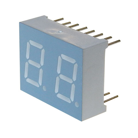 "0.40"" DUAL 7-SEGMENT LED DISPLAY, RED"
