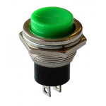 N.C. MOMENTARY PUSHBUTTON, GREEN