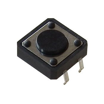 12MM TACTILE PUSHBUTTON, 4MM HIGH