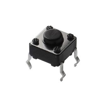 6MM TACTILE PUSHBUTTON, 4MM HIGH