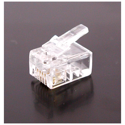 4 PIN CRIMP-ON MODULAR PLUG RJ-11