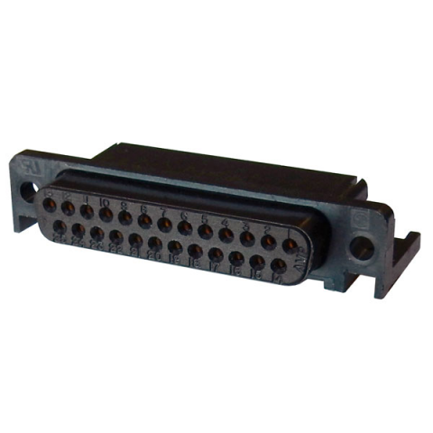 DB25S CONNECTOR, RIGHT-ANGLE PC