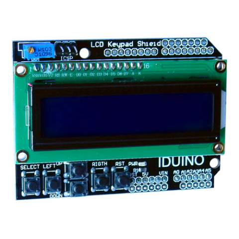 16 X 2 LCD W/ KEYPAD FOR ARDUINO
