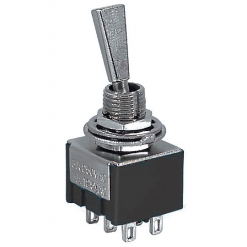 DPDT ON-OFF-ON MINI-TOGGLE SWITCH