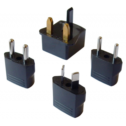 USA TO EUROPE ADAPTER, 4 PLUGS