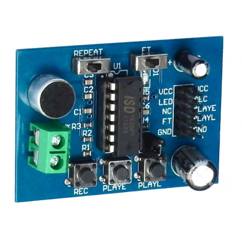 ISD1820 VOICE RECORD / PLAY MODULE