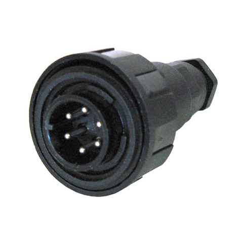 BULGIN SEALED CONNECTOR, 6-PIN MALE