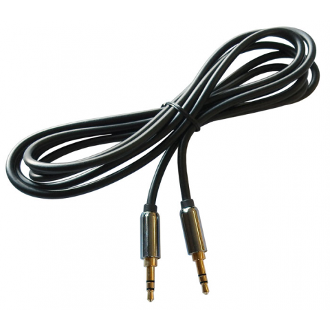 3.5MM STEREO MALE TO MALE AUDIO CABLE, 6 FT.