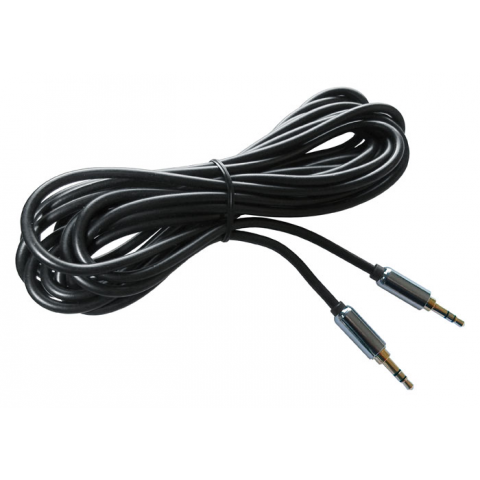 3.5MM STEREO MALE TO MALE AUDIO CABLE, 12 FT.
