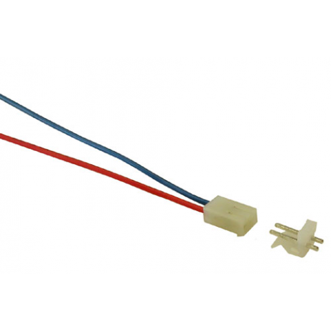 2-PIN CONNECTOR W/HEADER, 0.156""