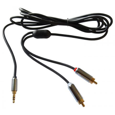 6 FT. Y-ADAPTER, 3.5MM STEREO PLUG TO 2 RCA PLUGS