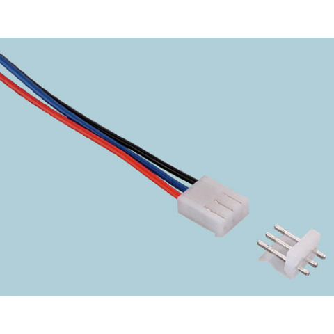 3-PIN CONNECTOR W/HEADER, 0.156""