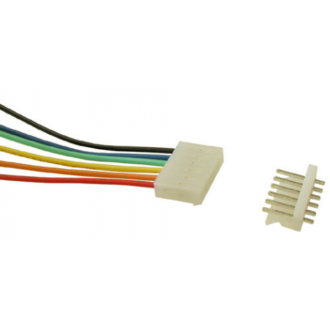 6-PIN CONNECTOR W/HEADER, 0.156""