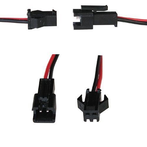 2 Conductor Locking Connectors W Leads All Electronics