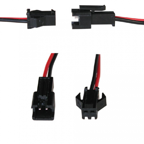 2-CONDUCTOR LOCKING CONNECTORS W/ LEADS