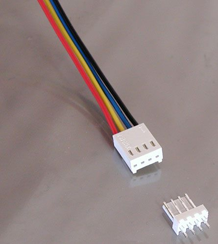4 Pin Connector W Header 0 10 Quot All Electronics Corp