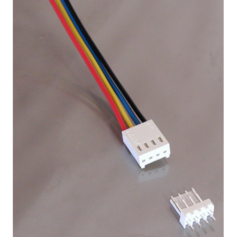 4-PIN CONNECTOR W/HEADER, 0.10""