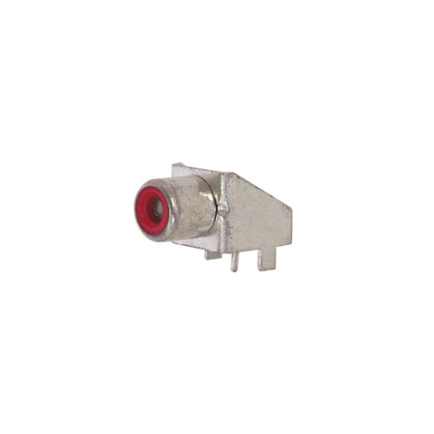 RCA JACK, RIGHT ANGLE, PC MOUNT, RED