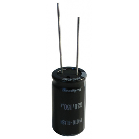 150 UF 330 V PHOTO-FLASH CAPACITOR - SPECIAL PRICE
