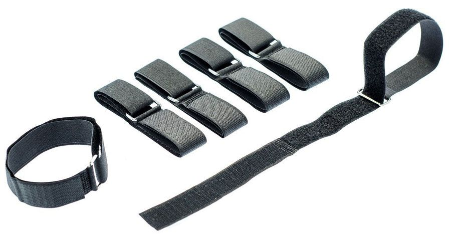 HOOK-&-LOOP STRAPS W/ BUCKLES, 6-PACK