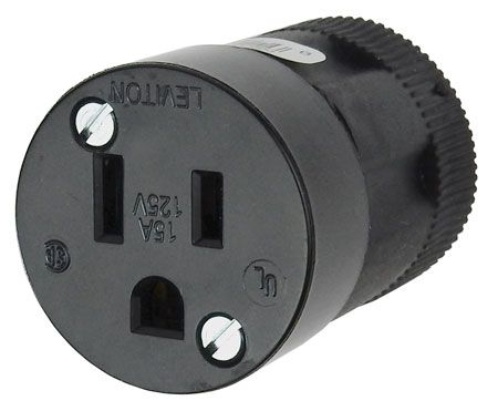 3-CONDUCTOR GROUNDED AC SOCKET