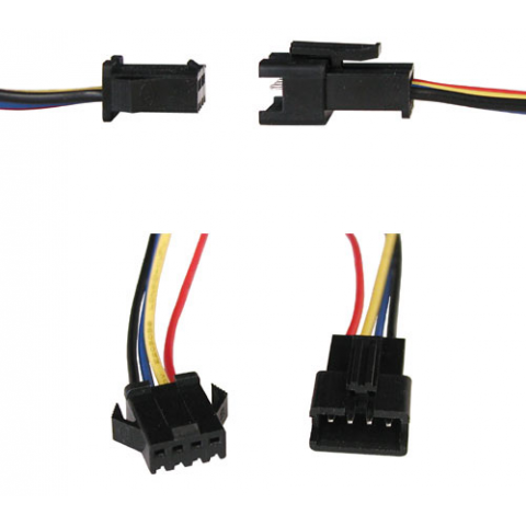 4-CONDUCTOR LOCKING CONNECTORS W/LEADS