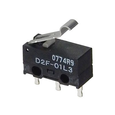 SPDT MINI-SNAP-ACTION SWITCH W/ SIM ROLLER LEVER