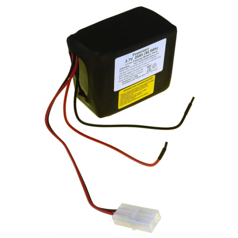 LI-ION POLYMER BATTERY PACK, 3.7V 25AH