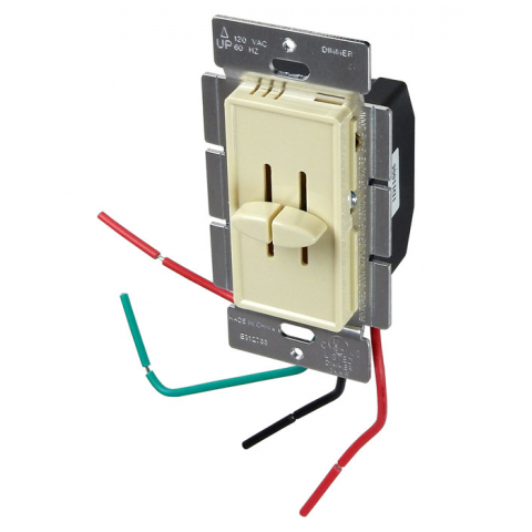 DUAL SLIDE DIMMER, 300W X 2, IVORY
