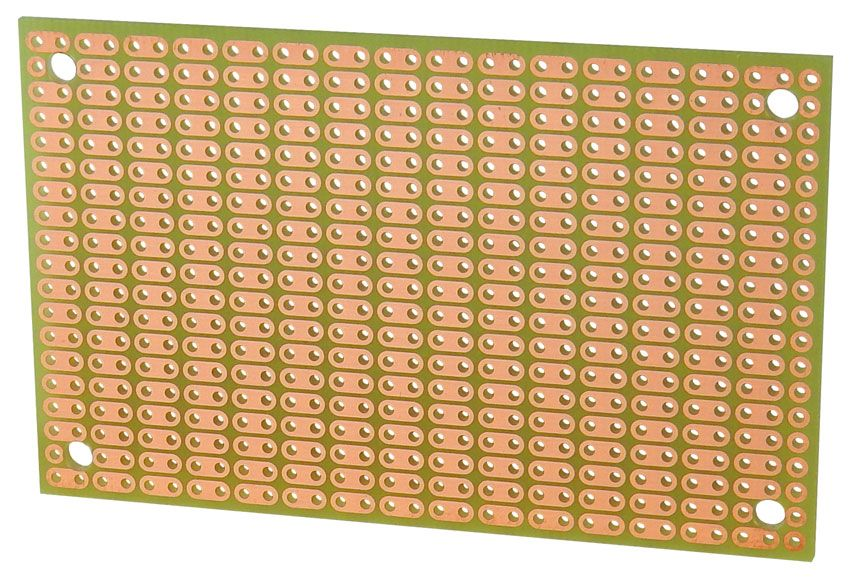 TWO HOLE PAD, SINGLE-SIDED BREADBOARD