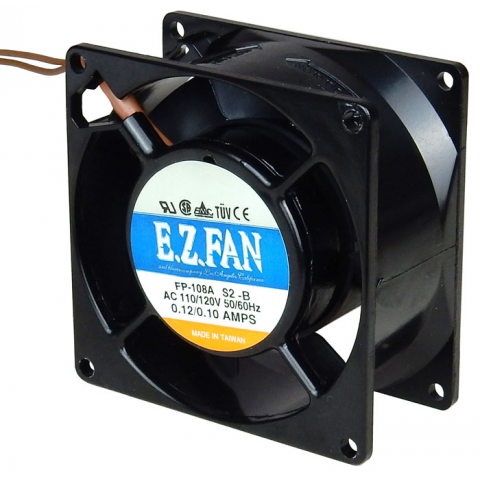 120 VAC 80 X 80 X 38MM FAN WITH LEADS