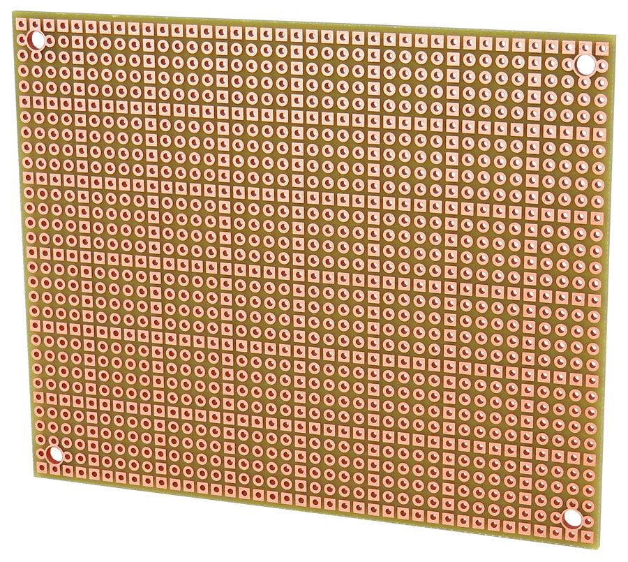 80 X 100MM SINGLE-HOLE BREADBOARD, DOUBLE SIDED