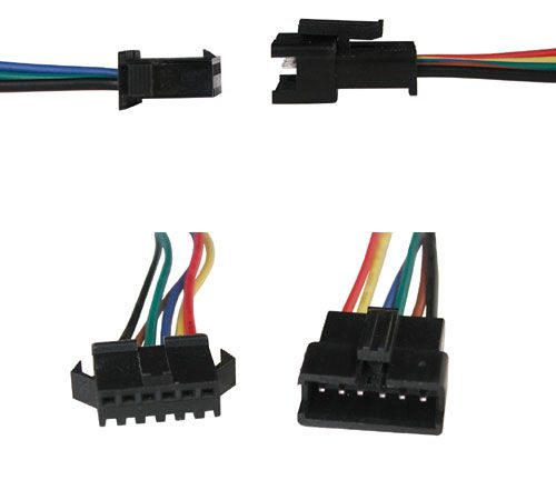 6-CONDUCTOR LOCKING CONNECTOR W/ LEADS