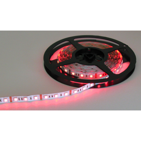 RED/GREEN/BLUE 12V LED STRIP, 16.4' ROLL