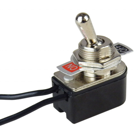 SPST ON-OFF TOGGLE SWITCH W/ WIRE LEADS