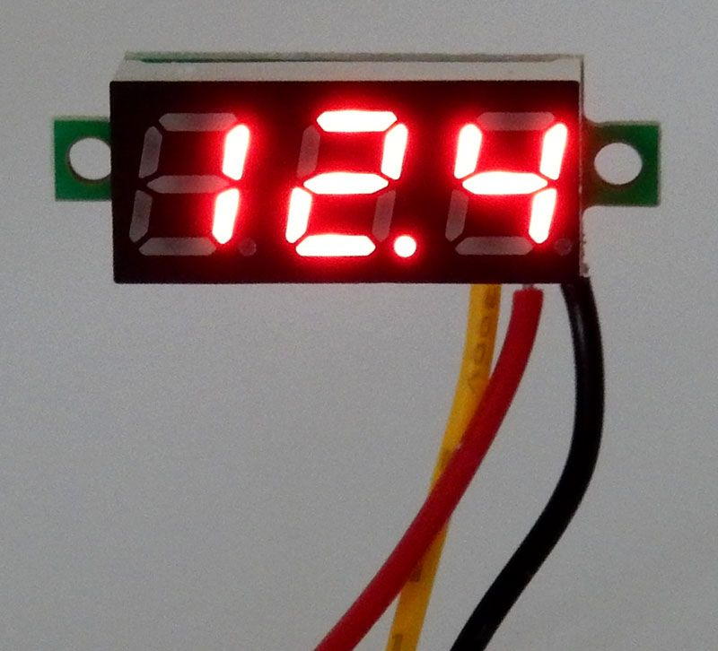 0-100V DC VOLTMETER, RED DIGITS