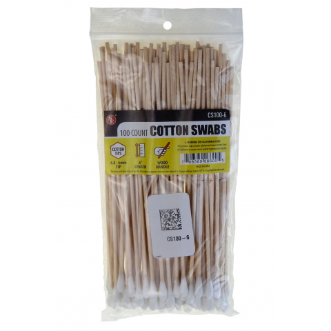 "6"" COTTON SWAB, 100 PIECES"