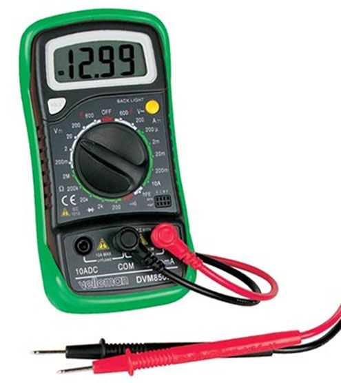 3 1/2 DIGIT LCD MULTIMETER W/ BACKLIGHT