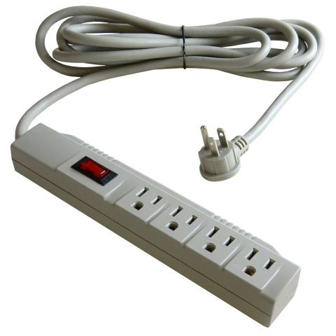 4-OUTLET POWER STRIP W/ 10' CORD