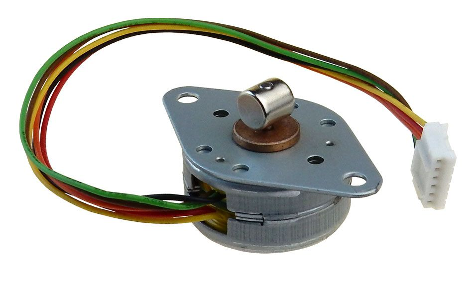 STEPPER MOTOR WITH ROTATING MAGNET