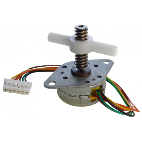 STEPPER MOTOR W/ WORM GEAR AND LEAD SCREW